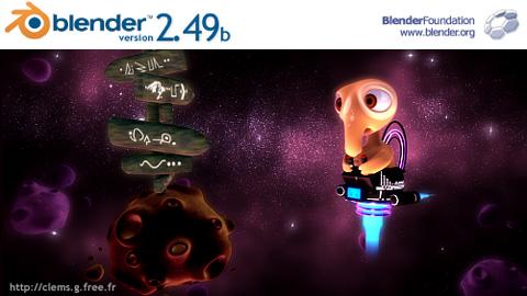 Blender最新安定版2.49b起動画面