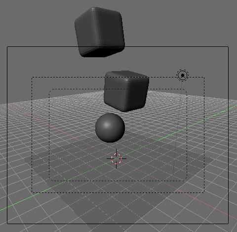 Cube(立方体)2個、Icosphere(球体)、Plane(平面)を用意