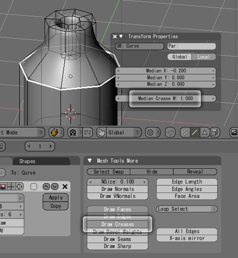 DrawCreasesによる鋭角の設定方法