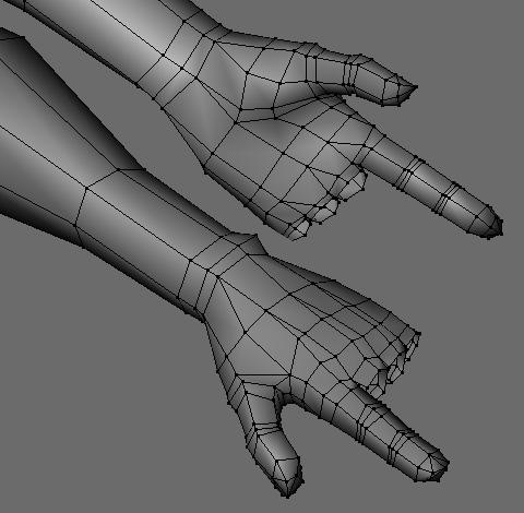 手の甲・指を作成