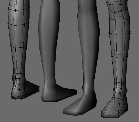 足首から先をザックリとモデリング