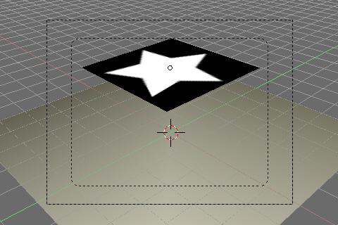 星形が描かれたテクスチャをUVマッピング