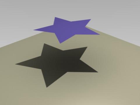 透明テクスチャ+透明影の適用レンダリング見本