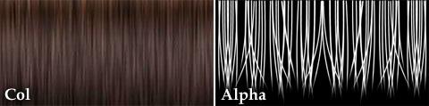 今回使用する[Col]カラーマップと[Alpha]透明マップ
