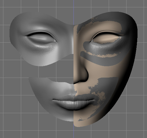 Sculptris Alpha 5で作成したobj形式をインポート