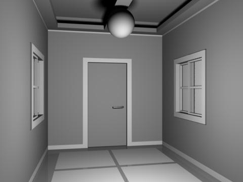 光源[Lamp]を1つ配置したレンダリング見本