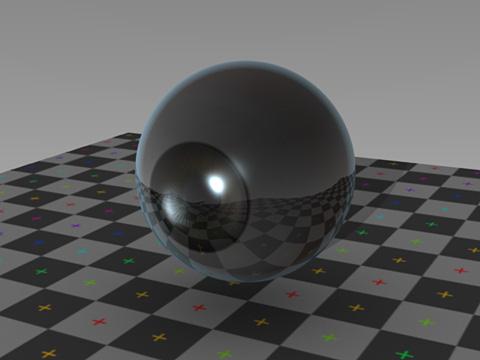 透明度を適用したはずの角膜が内側に光を通さない
