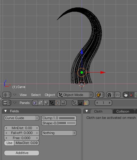 Curl:カールやBraid:三つ編みなど各種形状の変更
