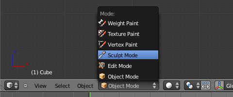 モードを「Sculpt Mode」に変更