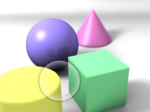 「Bokeh Type」を「Trianglar」に変更したレンダリング見本