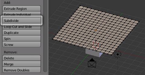 クロス・シミュレーションを設定する布を用意