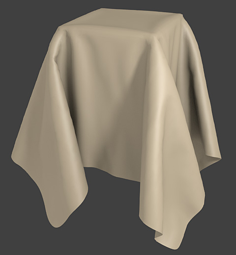 クロス・シミュレーション(Cloth)レンダリング見本