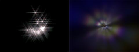 Glareノード(Streaks&Ghosts)エフェクト見本