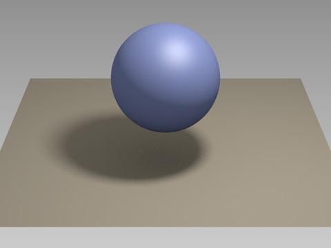 今回用意した球体と板状のオブジェクト