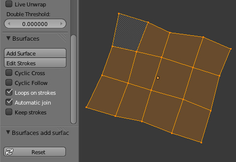 Bsurfacesパネルの[Add Surface]ボタンをクリック