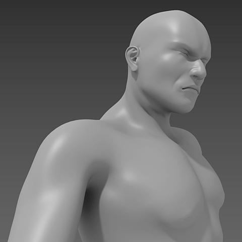 人物モデルはMakehuman