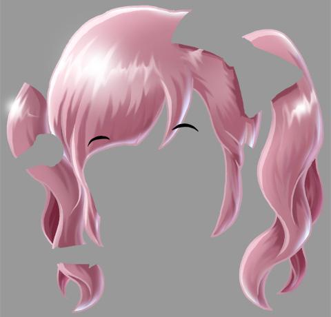 イラスト「きゃりーぱみゅぱみゅ」髪の毛完成見本