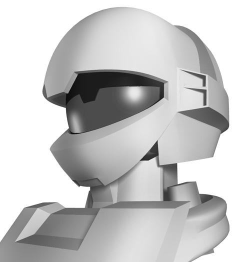 メカ(オリジナルロボット)制作〈頭部モデリング〉